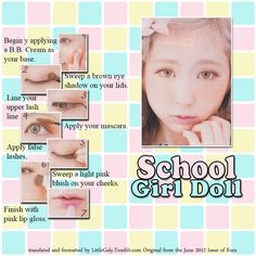 School Girl Doll makeup tutorial