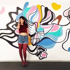 Shakti  the divine female cosmic energy. Another shot of the mural I did at Van de Velde lingerie HQ.  #art  #mural #graffiti #contemporary  #antheamissy  #wave #abstract #space #cosmic #motion #urbanart #streetart #lotus #アート #可愛い #kawaii  #arte #искусство #стритарт #미술 #ストリートアート #glamour #cute