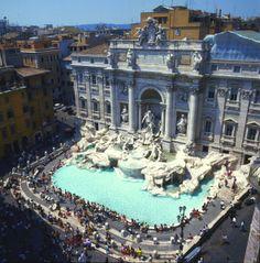 Fontana di Trevi en la fachada del Palazzo Poli - 1732-1762, Nicola Salvi