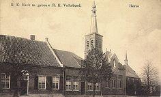 Met oude St.Martinuskerk en gebouw van R.K.-Volksbond - 1915