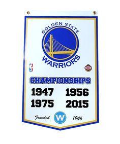 "Golden State Warriors 16""x25"" NBA Finals Championship Dynasty Banner #GoldenStateWarriors"