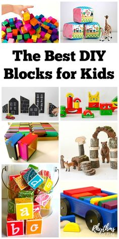 Every kid should have at least one good set of blocks. These DIY blocks for kids make it easy to have enough for everyone! I have placed this amazing collection of DIY blocks for babies, toddlers, preschoolers, elementary aged kids, teens and adults into categories so you can easily find what you are looking for. There are blocks with the letters of the alphabet (ABC blocks), recycled blocks, basic wood blocks, interlocking blocks, colored blocks, painted blocks, house, city, and people…
