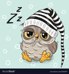 Illustration about Sleeping cute owl in a hood on a blue background. Illustration of childbirth, birthday, decoration - 78202023 Cartoon Cartoon, Cute Owl Cartoon, Cartoon Mignon, Owl Vector, Cute Animals, Baby Animals, Owl Pictures, Sleep Pictures, Owl Always Love You