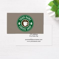 #template - #Coffee company cafe shop business card template