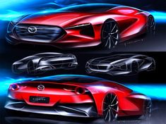 A visual walkthrough of the digital sketching and rendering process of a Mazda Concept, created by car designer Irfendy Mohamad. Rendering Techniques, Photoshop Rendering, Sketches Tutorial, Car Sketch, Design Competitions, Sketch Design, Design Tutorials, Designs To Draw, Concept Cars