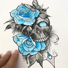 Dark Art Drawings, Tattoo Design Drawings, Skull Tattoo Design, Art Drawings Sketches, Tattoo Sketches, Tattoo Designs, Skull Rose Tattoos, Body Art Tattoos, New Tattoos