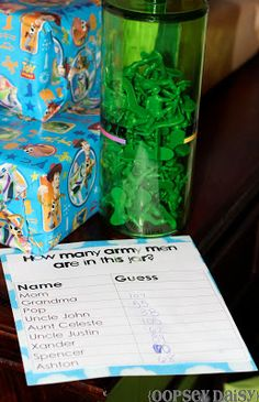 Toy Story Birthday Party for my son. Includes Toy Story-themed decor, food, and games. Army's Birthday, Toy Story Birthday, Birthday Party Games, 4th Birthday Parties, Birthday Ideas, Birthday Recipes, Birthday Activities, Mickey Birthday, Birthday Cakes