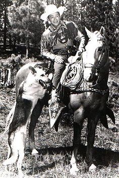Love this cowboy with Trigger and Bullet