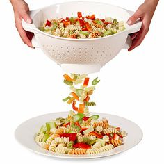 Lifetime Cutlery DFL Professional Trap Door Colander - BedBathandBeyond.com SO MUCH WANT WHERE HAVE YOU BEEN ALL OF MY LIFE