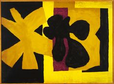 "Robert Motherwell, ""Wall Painting"", 1950, Oil on composition board, 108.3 x 147.3 cm (42 5/8 x 58 in.)"