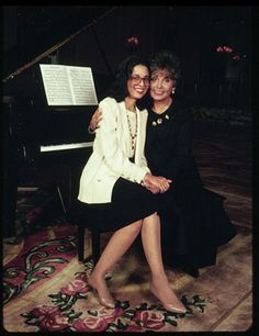 Lena Horne and Gail Lumet Buckley photographed by Jill Krementz on May New York City Lena Horne, Dorothy Dandridge, Civil Rights Activists, New York Times Magazine, Josephine Baker, Family Affair, Mother And Father, Hollywood Stars, American Singers