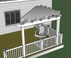 Pergola- This is exactly what I need to build!