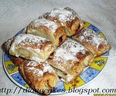 Reteta Placintele cu gem din categoria Aluaturi si Foietaje Romanian Desserts, Romanian Food, Pastry And Bakery, Pastry Cake, Dough Recipe, French Toast, Deserts, Sweets, Breakfast