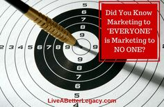 """Did You Know Marketing to """"Everyone"""" is Marketing to NO ONE?"""