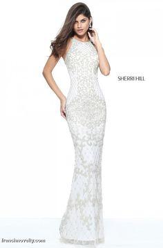 4404edf6de5 Sherri Hill 51207 Strappy Back Beaded Prom Dress