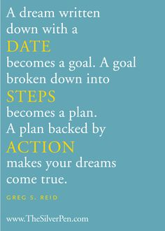 Date + Steps = Action