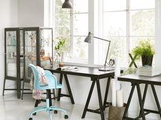 På IKEA finns många olika sorters ben och bordsskivor att välja mellan för att ge dig största möjliga flexibilitet om du vill designa ditt bord på egen hand.