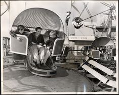 Boys enjoying a whirl during the sixth annual Day of Days for the San Francisco Boy's Club. The Tilt-a-Whirl was located next to the Octopus. November 26, 1949. San Francisco Playland-At-The-Beach: 20 Years Of History (PHOTOS)
