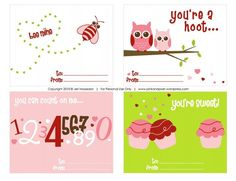 Show Some Love With These Free Printable Valentine Cards: Printable Valentine Cards for Kids at Pink & Posh Designs