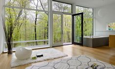 New York bedroom with a wooden view 10 Serene Rooms With A Balcony View