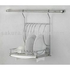 METAL WIRE HANGING DISH RACK,PLATE HOLDER,HANGING DISH DRAINER, View wall kitchen plate rack, SAKURA Product Details from Zhongshan Wanxiong Kitchenware Manufacture Co., Ltd. on Alibaba.com