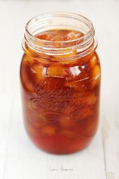 Dulceata piersici in borcan Canning Recipes, My Recipes, Pastry Cake, Preserves, Pickles, Jelly, Salsa, Food And Drink, Jar