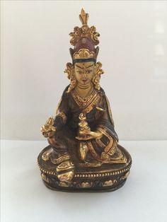 Copper/bronze Padmasambhava. Nepal. 20th cent.
