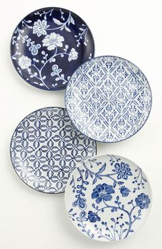 Vagabond Vintage Plates - Blue Print Patterns - Home Deco - Interiors Ceramic Plates, Ceramic Pottery, Chinoiserie, Keramik Design, Blue And White China, Vintage Plates, Dot And Bo, Ceramic Painting, Pattern Mixing