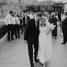 beautiful wedding - bride's dress and bridesmaids dresses
