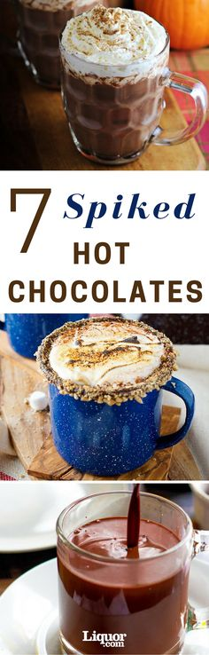 With the cold temperatures of winter, we're reaching for things to warm us up—parkas, blankets, even cocktails. And one of the greatest cold-weather drinks of all time is the classic hot chocolate. So(Hot Chocolate Bars) Spiked Hot Chocolate, Chocolate Liquor, Hot Chocolate Bars, Hot Chocolate Recipes, Chocolate Smoothies, Chocolate Shakeology, Chocolate Party, Chocolate Cake, Chocolate Roulade