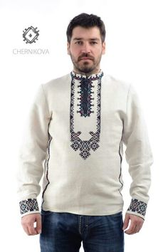 Chernikova Folk Fashion, Mens Fashion, Bohemian Men, Kurta Style, Mens Kurta Designs, Knitting Charts, Fashion Colours, Cross Stitch Designs, Men Looks