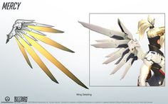 Widowmaker from Overwatch. A close look at the model structure from all angles; a great reference for cosplay. Widowmaker and Overwatch belongs to Blizzard Widowmaker - Overwatch - Close look at model Overwatch Mercy, Wings Drawing, Mechanical Art, Sword Design, Heroes Of The Storm, Cosplay Diy, Anime Cosplay, Cosplay Ideas, Wings Design