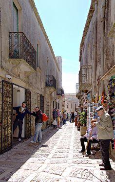 ~Erice street scene, province of Trapani Sicily~