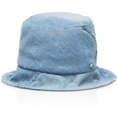 Maison Michel Fredo Denim Hat (14.180 UYU) ❤ liked on Polyvore featuring accessories, hats, blue, maison michel, maison michel hat, blue hat and denim hat
