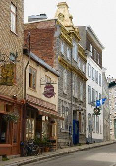 Street Scene In Old Quebec; Quebec City Quebec Canada