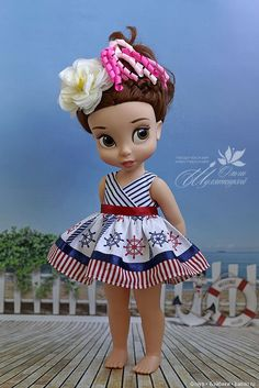 """""""Морской сарафанчик"""" - выкройка для фейсинки и диснейки / Мастер-классы, творческая мастерская: уроки, схемы, выкройки для кукол / Бэйбики. Куклы фото. Одежда для кукол"""
