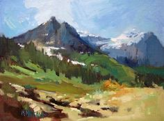 Glacier Park Landscape - Revised, painting by artist Mary Maxam
