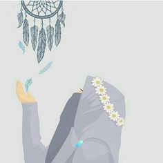 Kumpulan Kartun Hijab Muslimah Cute - Jutaan Gambar Cat Anime, Anime Manga, Aesthetic Pastel Wallpaper, Aesthetic Wallpapers, Tattoos Anime, Poses Anime, Anime Amor, Deviantart Drawings, Hijab Drawing