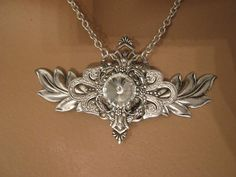 ANGEL WINGS NECKLACE victorian necklace sterling silver ox filigree steampunk art nouveau art deco vintage style on Etsy, $69.00