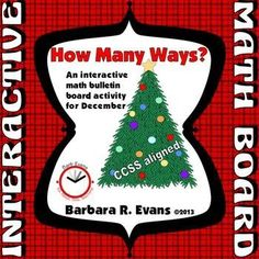 Give yourself a gift with this bulletin board center that challenges kiddos even in Dec.  $