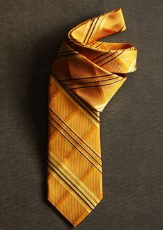Striped gold tie for Horace