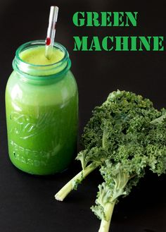 GREEN MACHINE  This is your big, bad green juice for when you are really craving greens and want to get a TON of nutrition. This juice is MAJOR!  Green Machine        3 cucumbers      1 bunch kale      1/2 bunch parsley      1/2 bunch spinach      1/2 bunch swiss chard      1-2 lemon or lime (peeled)      stevia to taste (optional)    Run all ingredients through juicer and enjoy!