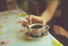 BEST MORNING COMBINATION #cigarettes #and #coffee