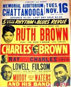 60S Music Posters Mississippi Blues | Vintage Chattanooga, Tn. Concert Posters - E.FM