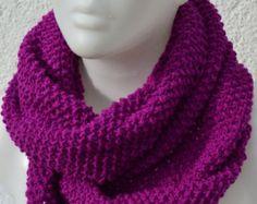 Loop Schlauchschal Schal pink gestrickt