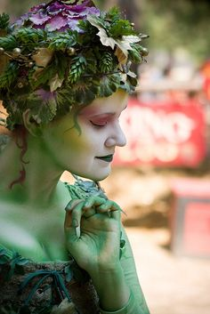 Green fairy at the Bristol Renaissance Faire