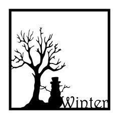Winter Snowman Scrapbooking Die Cut Overlay