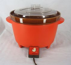 Vintage Rival Crock Pot Retro Bright Orange by Craftyseller, $24.95