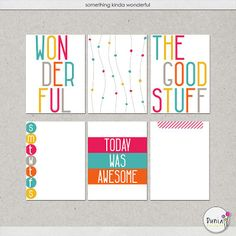 Free Something Kinda Wonderful Journal Cards from Dunia Designs {part of the Mscraps Facebook Hop}