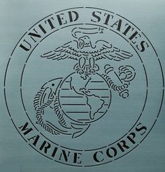 Marine Corp - The Stencil Company Quilting Stencils, Quilting Templates, Quilting Designs, American Flag Quilt, American Flag Wood, American Pride, Dog Tags Military, Military Life, Marines Logo